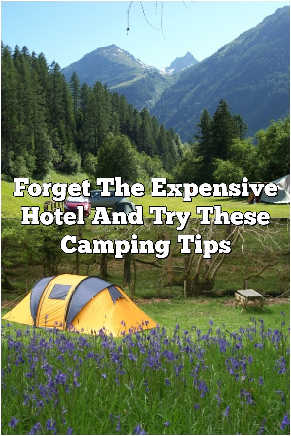 Forget The Expensive Hotel And Try These Camping Tips