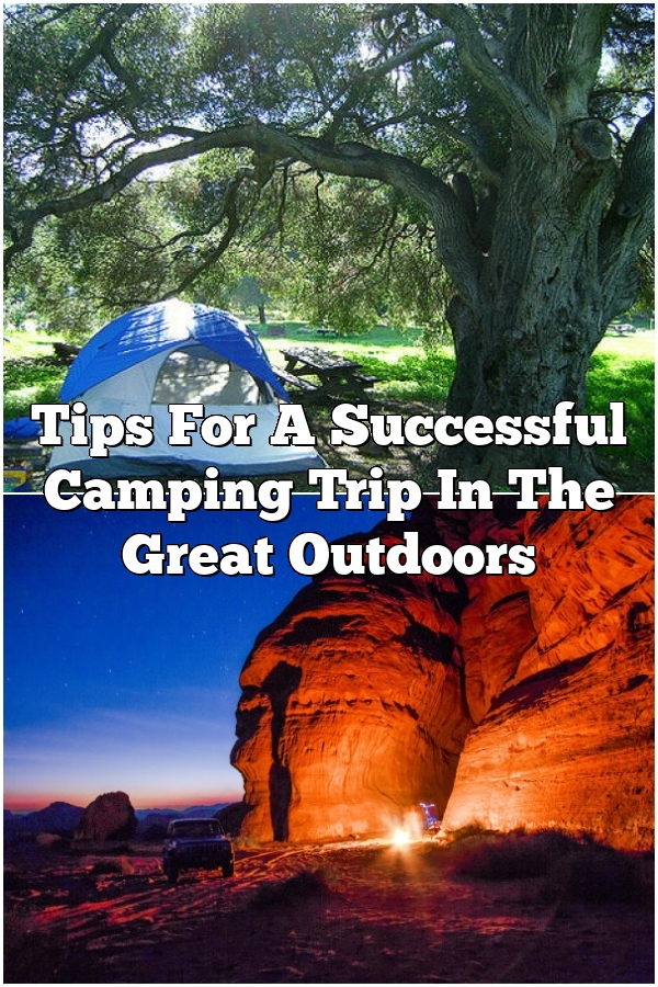 Tips For A Successful Camping Trip In The Great Outdoors