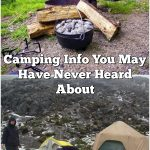 Camping Info You May Have Never Heard About