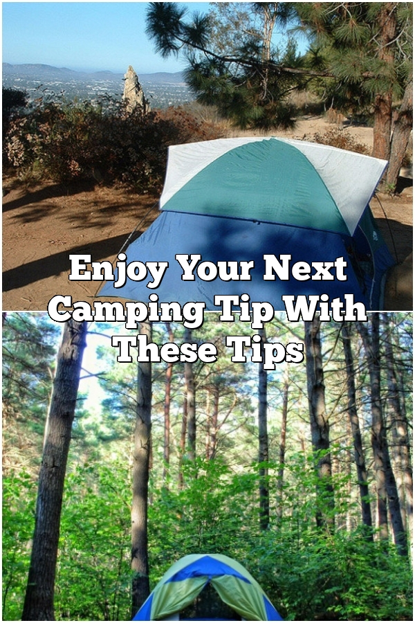 Enjoy Your Next Camping Tip With These Tips
