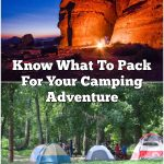 Know What To Pack For Your Camping Adventure