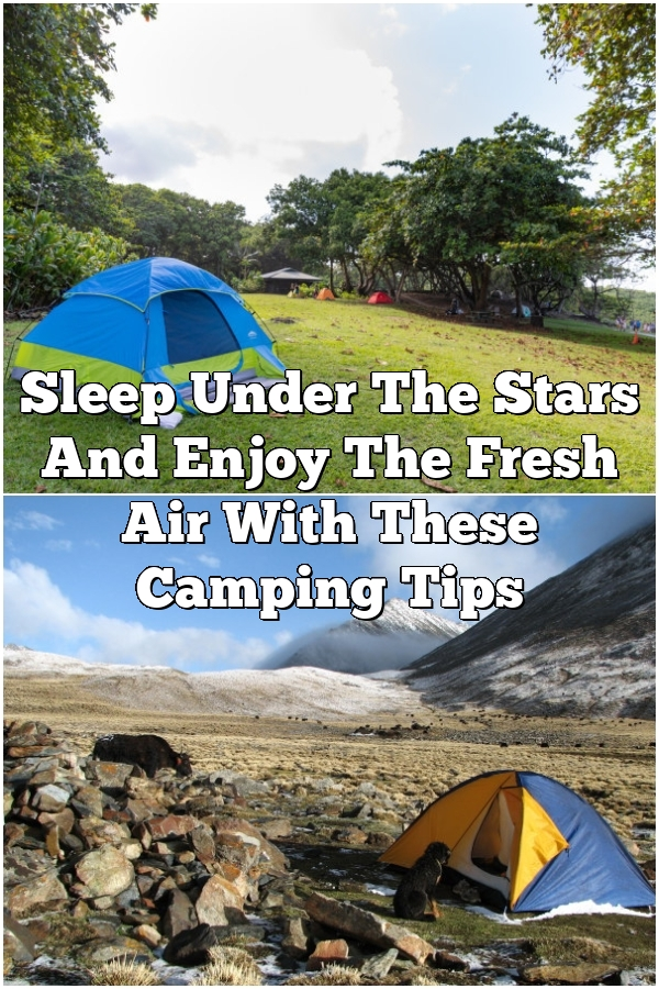 Sleep Under The Stars And Enjoy The Fresh Air With These Camping Tips
