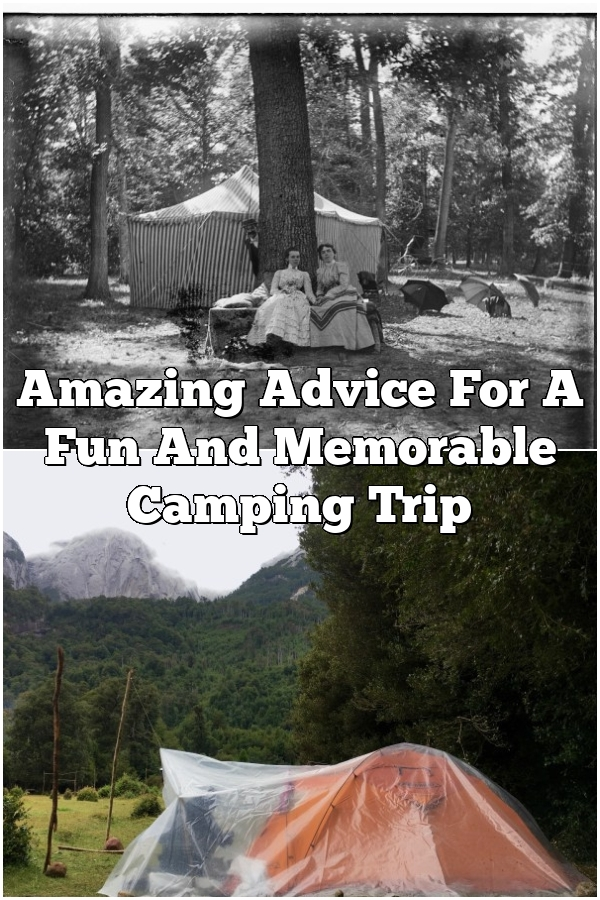 Amazing Advice For A Fun And Memorable Camping Trip
