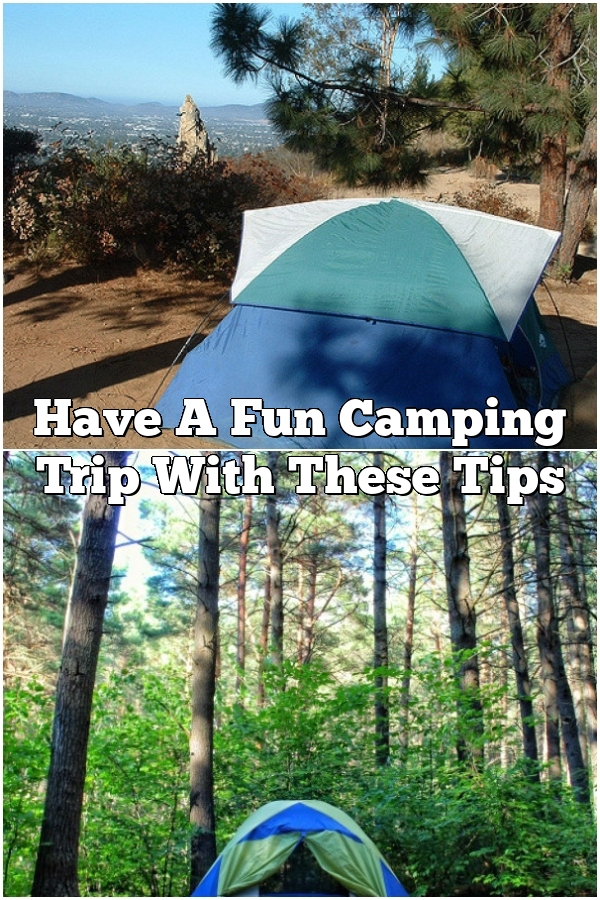Have A Fun Camping Trip With These Tips